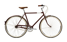 Creme Caferacer Solo Hollandse Fiets Heren 3-Speed bruin